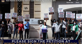 Khalsa Secondary Academy Parents hand in 5500 petition to the DFE