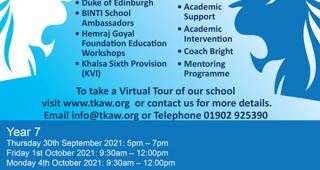 Open Morning and Open Evening information
